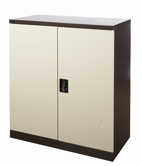 Half-Height Brown/Beige Stationery Storage Cupboard thumbnail