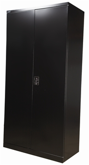 6ft Black Stationery Storage Cupboard thumbnail