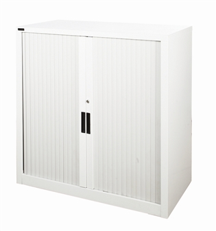 1m High Grey Tambour Storage Cupboard thumbnail