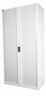 2m High Grey Tambour Storage Cupboard thumbnail