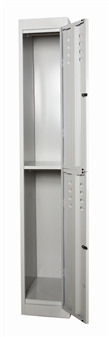 Two Compatment Locker With Doors Open thumbnail