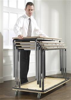 Flat Bed Table Trolley - Carries Up To 6 Tables At A Time thumbnail