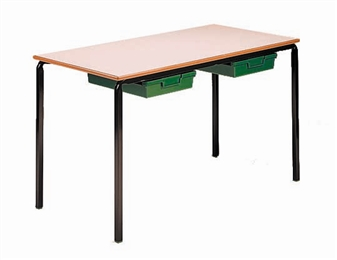 Crushed-Bent Classroom Tables With Tray Drawers thumbnail