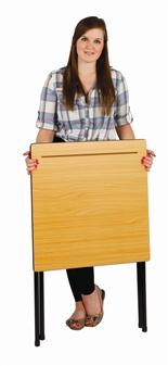Wooden 4 Leg Folding Exam Table thumbnail