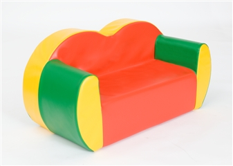 2-Seater Block Colour Sofa thumbnail