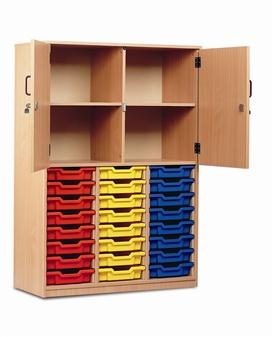 Part-Filled Storage Cupboard 24 Trays Half Doors thumbnail