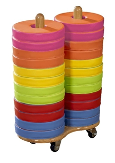 Donut Seat Trolley With 24 Donut Cushions thumbnail