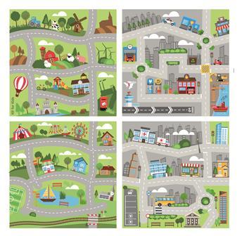 Set Of 4 Road Carpets thumbnail