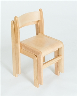 Natural Wood Stacking Classroom Chair thumbnail