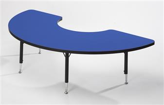 Height-Adjustable Arc Table - Red thumbnail