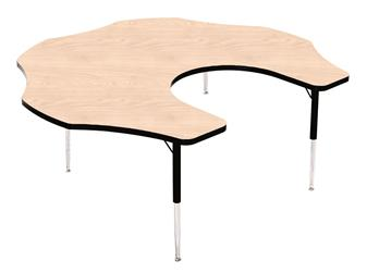 Height-Adjustable Teacher Flower Table - Red thumbnail