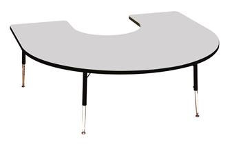 Height-Adjustable Horseshoe Table - Blue thumbnail