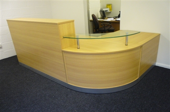 Oak Reception Counter Desk thumbnail
