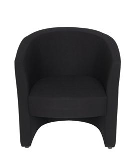 Tub Reception Chair In Black Fabric thumbnail