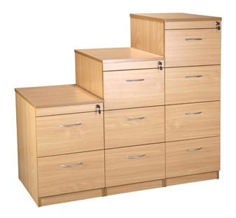 2, 3, & 4-Drawer Filing Cabinets - Beech thumbnail