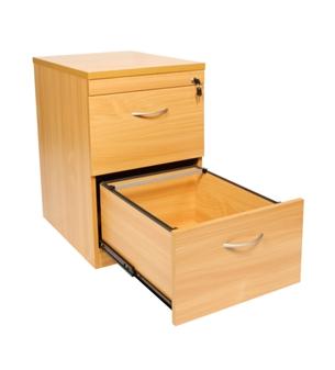 2-Drawer Filing Cabinet - Beech thumbnail