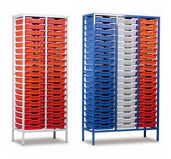 Tall Metal Frame Static Plastic Tray Storage Units thumbnail