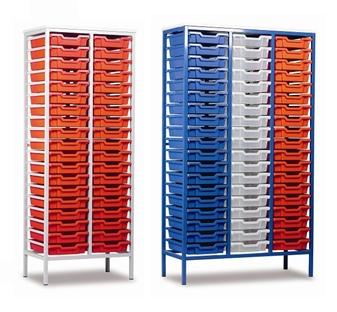 Captivating ... Tall Metal Frame Static Plastic Tray Storage Units Thumbnail ...