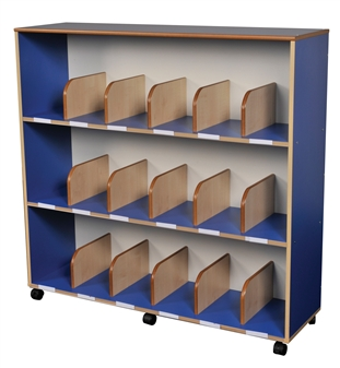 Childrens Mobile Bookcase - Blue thumbnail