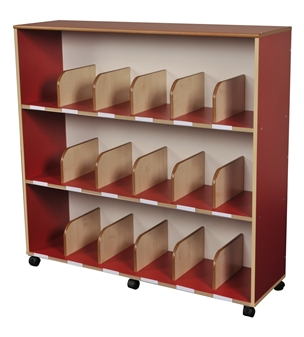 Childrens Mobile Bookcase - Red thumbnail