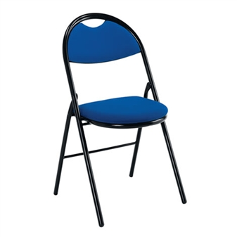 Fabric Folding Chair - Blue thumbnail