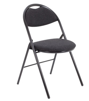 Fabric Folding Chair - Charcoal thumbnail