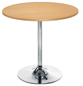 Beech Trumpet Base Cafe / Bistro Table thumbnail