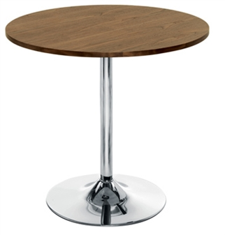Walnut Trumpet Base Cafe / Bistro Table thumbnail