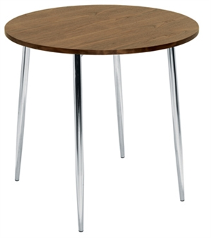 Walnut 4 Leg Cafe / Bistro Table thumbnail