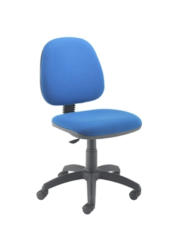 value medium back operator chair with feet glides