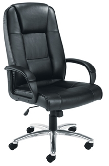 Value Leather Executive Chair 2 + Chrome Base thumbnail