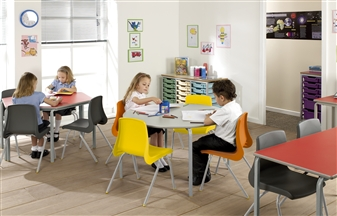 Crushed Bent Nesting Stacking Classroom Table thumbnail