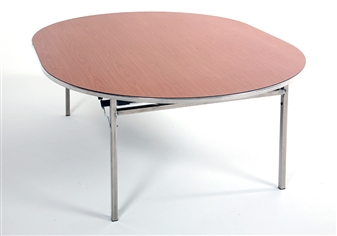 Heavy-Duty Lightweight Oval Folding Table thumbnail