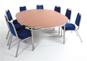Heavy-Duty Lightweight Oval Folding Table With Chairs thumbnail