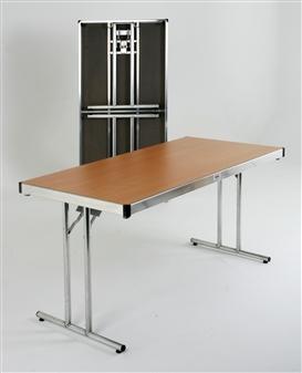 Heavy-Duty Lightweight I-Leg Rectangular Folding Tables thumbnail