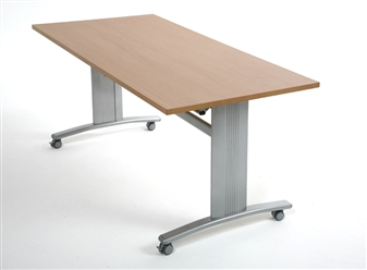 table on wheels. elite range rectangular flip top table on wheels thumbnail e