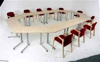 Rectangular & Trapezoidal Folding Training Tables thumbnail