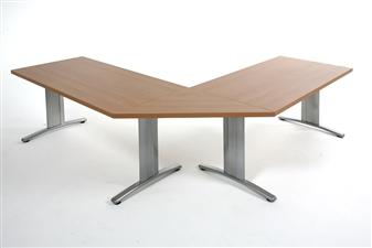 Rectangular Folding Meeting Table With Straight Segmental Links thumbnail