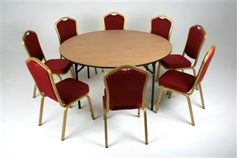 Folding 1500Dia Circular General Purpose Table + Chairs thumbnail