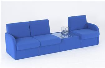 BRS/A Modular Box Reception Sofa Seat - With Arms thumbnail