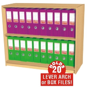 20 Box File Open Storage Cupboard (Static) thumbnail