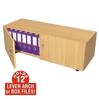 12 Box File Storage Cupboard (Mobile) thumbnail