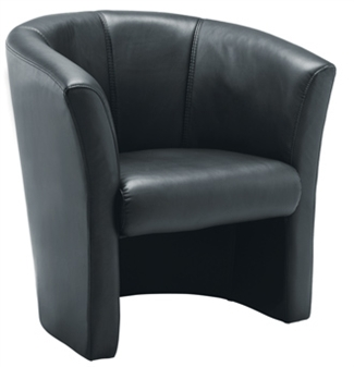 Leather-Look Tub Armchair thumbnail
