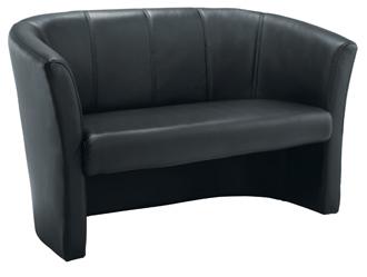 Leather-Look Tub Sofa thumbnail