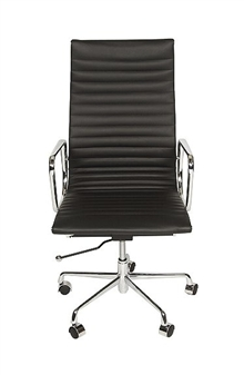 Charles Eames Style High Back Ribbed Executive Chair  thumbnail