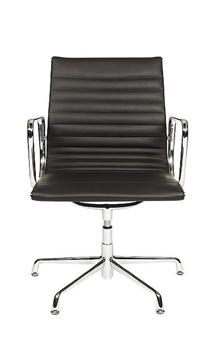 Charles Eames Style Medium Back Ribbed Boardroom Chair  thumbnail