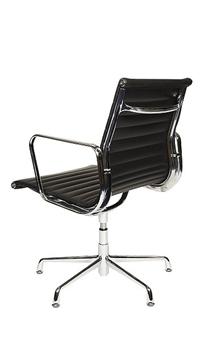 Charles Eames Style Medium Back Ribbed Boardroom Chair - Rear View thumbnail