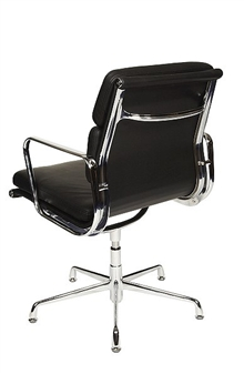 Charles Eames Style Medium Back Padded Boardroom Chair - Rear View thumbnail