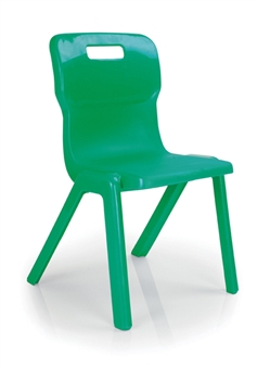 Titan One Piece Polypropylene Chair - Green thumbnail