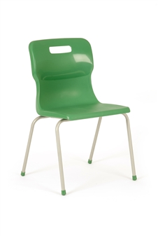 Titan 4-Leg Polypropylene Chair - Green thumbnail